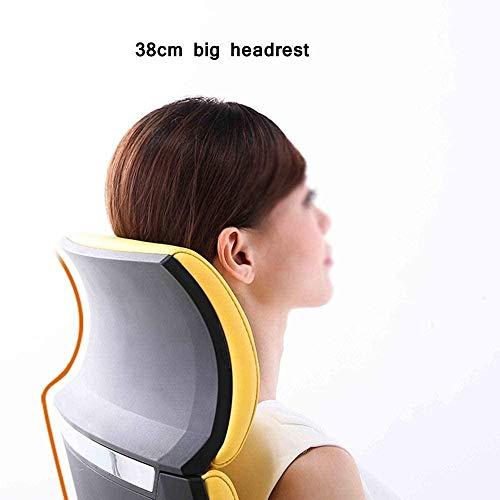 Kontorsstol, hög rygg svängbar stol dator skrivbord stol ergonomisk verkställande uppgift stol nackstöd armstöd knästol