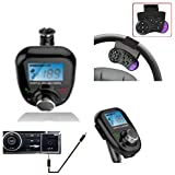 FM Transmitter Bluetooth Handsfree Car Kit MP3 Music Player Radio Adapter with Steering Wheel+Remote Control For iPhone Samsung LG Smartphone