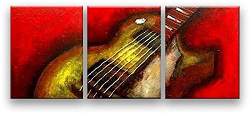 Oil Painting Modern HUGE Art on Canvas Music Handmade Wall Decor Gibson - Md Forest Lake