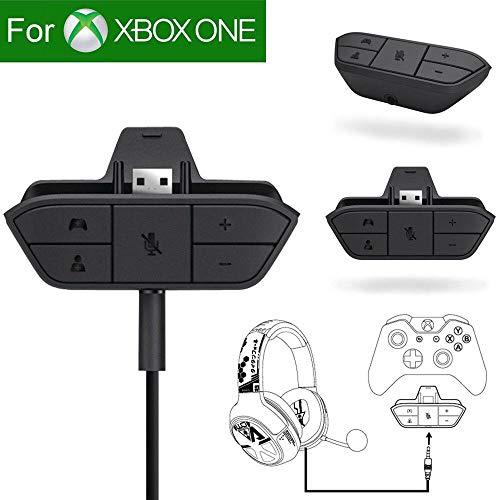 Stereo Headset Adapter, Besde Audio Game Adapter for Microsoft Xbox One Controller DR - Get Chat and Stereo Game Audio (Black, Save 25% Purchase 3)