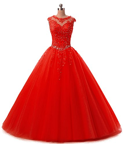 (HEIMO Lace Appliques Ball Gown Evening Prom Dress Beading Sequined Quinceanera Dresses Long 2018 H152 10)