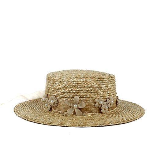 Naturale Donna Dimensione 58cm Spiaggia Di Larga colore 56 Estivo Cappello Naturale Mxl Da Tesa Sole Pescatore Paglia A IOx1wa