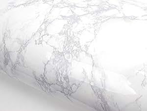 Grey Granite Look Marble Effect Contact Paper Film Vinyl Self Adhesive Peel-stick Counter Top : 2.00 Feet X 6.56 Feet