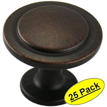 "Cosmas 5560ORB Oil Rubbed Bronze Cabinet Hardware Round Knob - 1-1/4"" Diameter - 25 Pack"