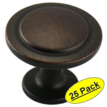 Cosmas 5560ORB Oil Rubbed Bronze Cabinet Hardware Round Knob   1 1/4u0026quot;