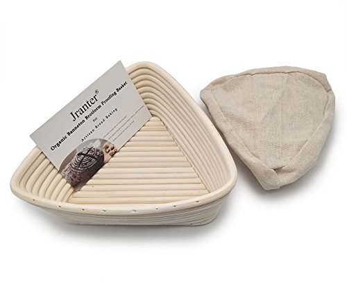 - Banneton Bread Proofing Basket Triangle 9 Inch and Linen Liner Set