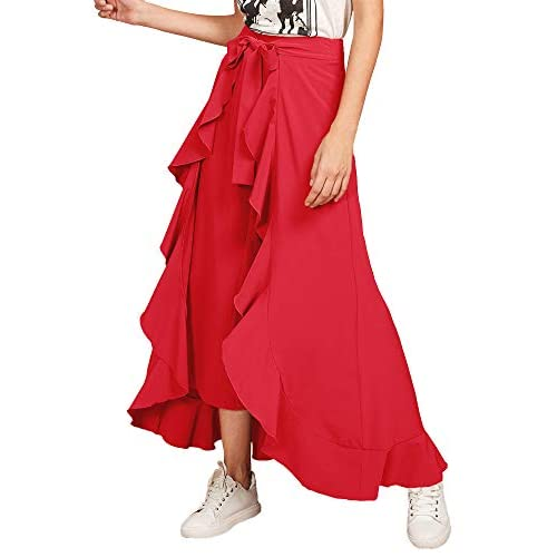 41f 9np%2BQLL. SS500  - Addyvero Women's Solid Flared Skirt