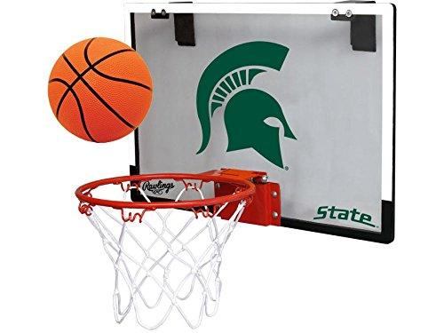 Michigan State University Spartans Indoor Basketball Hoop Set - Over the Door Game (University Door State)