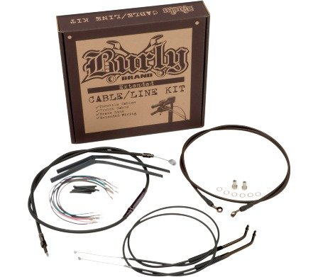 Burly B30-1012 Cable/Brake Line Kit for 14'' Height Apehanger Handlebars