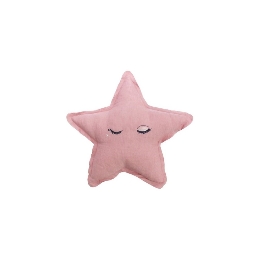 LMNOP Throw Pillow Character Cushion Star Cushion 19''x18'' Pink