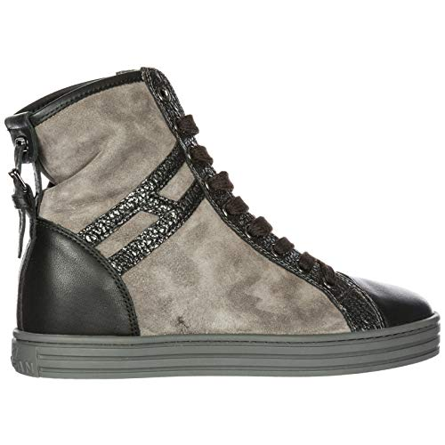 Rebel r182 Trainers Shoes Sneakers Grey top high Suede Women's Hogan gZqww