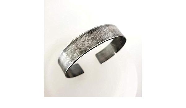 Smart Office Work Jewelry Man PERSONALIZED Guys Minimal Brushed Oxidized Brass Band Bracelet CUSTOMIZED Simple Mens Brass Cuff Bracelet