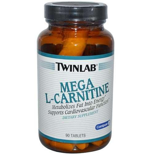 Twinlab Mega L-карнитин 500 мг, 90 таблеток