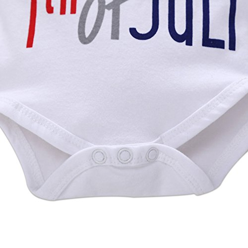a5e3dbf73 OBEEII My First 4th of July Newborn Baby Boy Outfits American Flag Summer  Romper Pants Independence