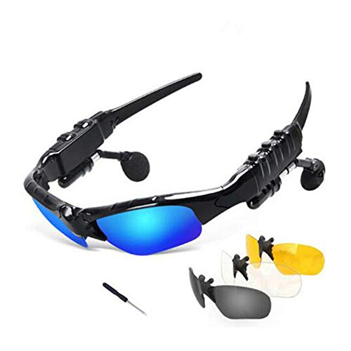Glasses Bluetooth Sunglasses Outdoor Smart Bluetooth Sun Wireless Headset Sport with Microphone for Smart Phones