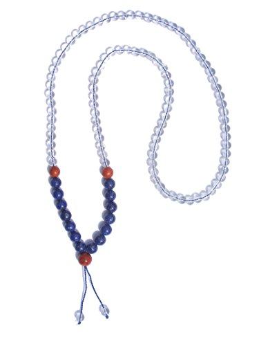 ZENstore - Collier Mala Yoga Lapis Lazuli A+ qualité, 108 perles 72 cm, Mixte, en gemmes, Multicolore, Fait main