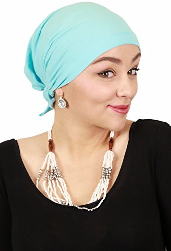 Cancer Headwear for Women Headscarves Chemo Patients Head Scarfs Head Coverings (Aqua) by Hats Scarves & More