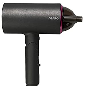 AGARO HD-1214 Premium Hair Dryer with 1400-Watt Motor, 3 Temperature Settings & Cool Shot Button (Black)
