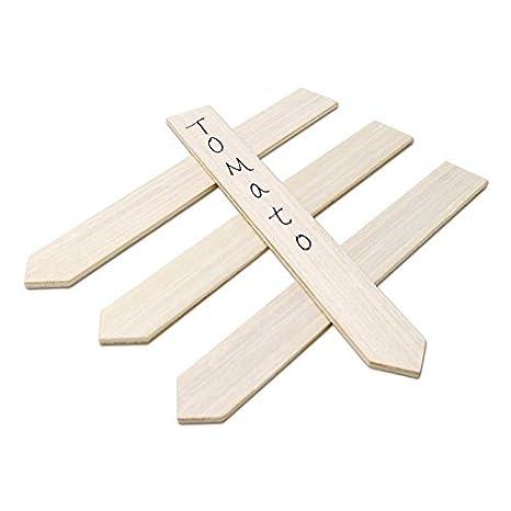 KINGLAKE 50 Stk Pflanzenschilder Holz Pflanzenstecker zum Beschriften 15 CM, Stecketiketten Holz für Pflanzen, Etiketten Gart