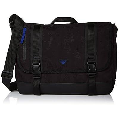06cfe2740cc9 hot sale Armani Exchange Men s Jacquard Fabric and Rubberized Messenger Bag