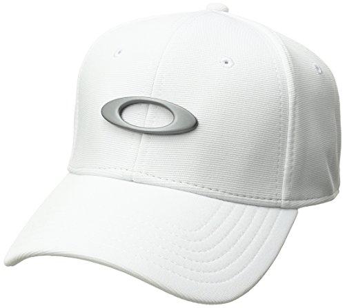 Oakley Mens Men's Tincan Cap, White/Grey, Small/Medium
