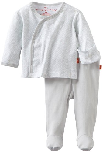 Magnificent Baby Unisex Newborn Long Sleeve Kimono Top And Pant Set