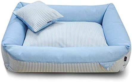犬猫ソファベッド、 犬と猫のためにペットベッド/猫と小中大犬/ブルーのために取り外し可能なウォッシャブル/ (Size : L)