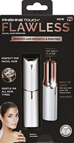 """Finishing Touch Flawless Women's Painless Hair Remover. Remove Flawless cap, slide the switch located on the side of the unit upward into the """"ON"""" position. The light will automatically turn on when the unit is """"ON"""". Gently press the head of the unit..."""
