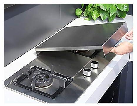Staffa del fornello di induzione dellacciaio inossidabile della cucina Spessore: 1.5mm; Formato: 48 * 35 * 7cm coperchio del cooktop tavola della copertura della stufa di gas del gas naturale