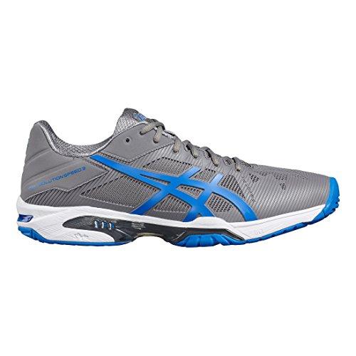 pretty nice 0277a 5c805 blanc bleu Tenis Zapatillas Gris solution Speed Para Hombre 3 électrique  Asics Gel De ...