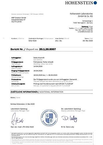 40g//m/² zertifizierte Qualit/ät 1x Inlett-Vlies 1,1m x 2m AMF Life F/üllwatte waschbar bis 95 Grad 500g