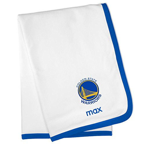 Personalized Golden State Warriors Baby Blanket (Officially Licensed) Ultra Soft, Warm Comfort | Receiving Swaddle for Newborn Boy or Girl | Portable, Stroller Friendly