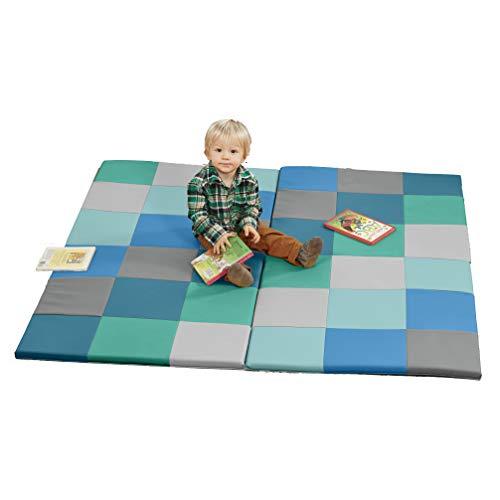 ECR4Kids ELR-031F-CT-A Soft zone Patchwork Toddler Foam Play Mat, 58