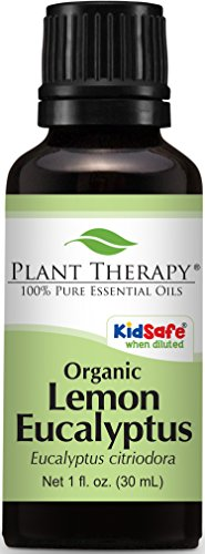 Plant Therapy USDA Certified Organic Eucalyptus Lemon Essential Oil. 100% Pure, Undiluted, Therapeutic Grade. 30 ml (1 oz). (Lemon Essential Oil 1 Oz)