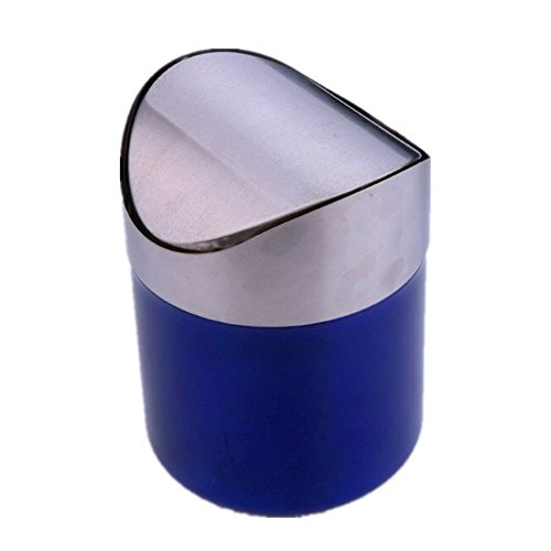 Katherine Stainless Steel Wave cover Countertop Mini Trash C