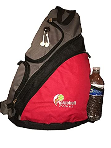 Pickleball Marketplace Urban Sport Sling Backpack - New/embroidered - Red - National Champions Keychain