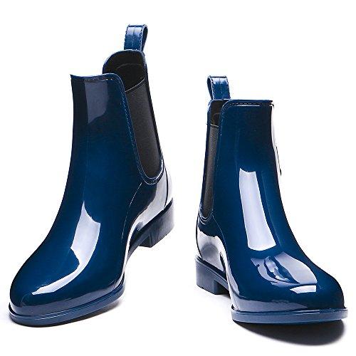 Booties Ankle Damenmode TONGPU Navy Slip Regenstiefel Ons zRwqgX