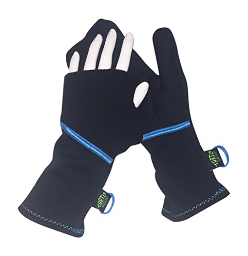 Turtle Gloves Lightweight Convertible Running Mittens for Spring/Fall Size-S