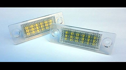 Euro LED Number License Plate Lights For VW Jetta MK5 5 Passat B5.5 Sedan B6 Wagon