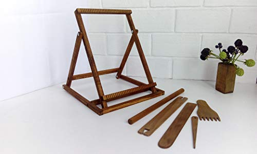 Weaving Frame Loom with Stand Large Tapestry Loom Tools Creative DIY Art Kit 10 x 14 inches