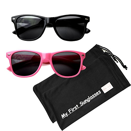 MFS-Wayfarer-Kids-125mm, Black and Pink 2 Pack - Face Right For Your Sunglasses