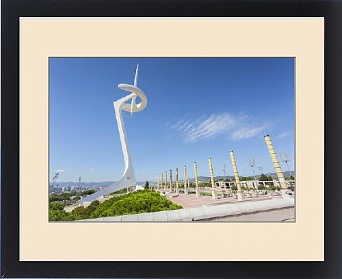 framed-print-of-torre-calatrava-torre-telefonica-barcelona-catalonia-spain-europe