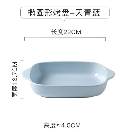 Baking dish ceramics cheese baking dish microwave oven special for Western dish oven, GB166 Azure Blue Baking Plate