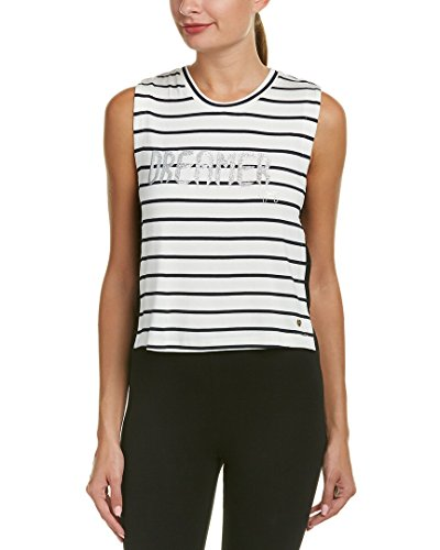 - Juicy Couture Black Label Women's Muscle Tee, Black/White Stripe Medium