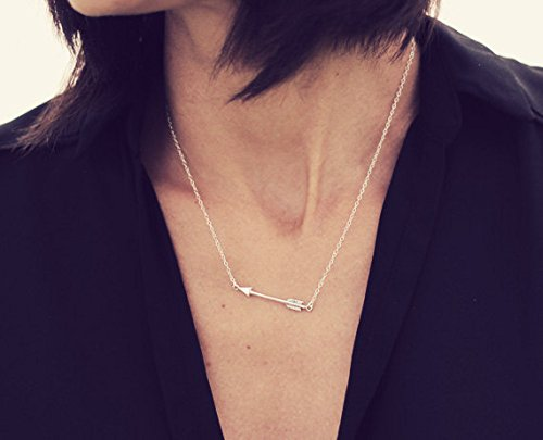 Gift for Her Tiny Sterling Silver Arrow Charm Mini Arrow Charm Dainty Sterling Silver Necklace BFF CHENCAN01 Silver Arrow Necklace