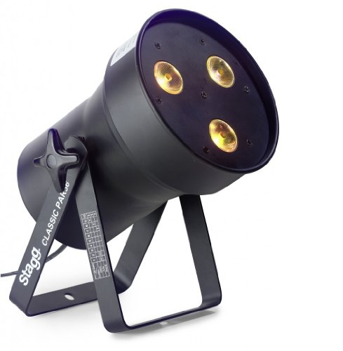 Stagg SLI CLPA361-1BK Classic LED Spotlight with 3 Extremely Bright 8-Watt RGBW LEDs - Black from Stagg