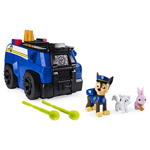 (Paw Patrol, Chase's Ride 'N' Rescue, Transforming 2-in-1 Playset & Police Cruiser, for Kids Aged 3 &)