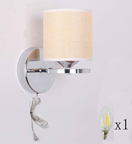 Pdelicate Wall Lamps Sconces Wall Lamp Pull Switch Nickel Plated With Fabric New eBay