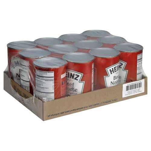 Heinz Condensed Beef Noodle Soup - 50.5 oz. can, 12 per case by Heinz