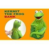 カーミット■陶器製 貯金箱 コインバンク■カエル 蛙 かえる■マペット
